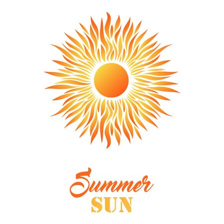Beautiful Summer Card with Sun Icon and Text