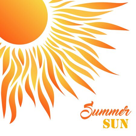 Summer Sun Card. Decorative Desigh for Holiday Greetings