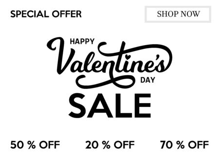 Window Sticker, Banner, Flayer, Poster Templates for St. Valentine s Day Sale