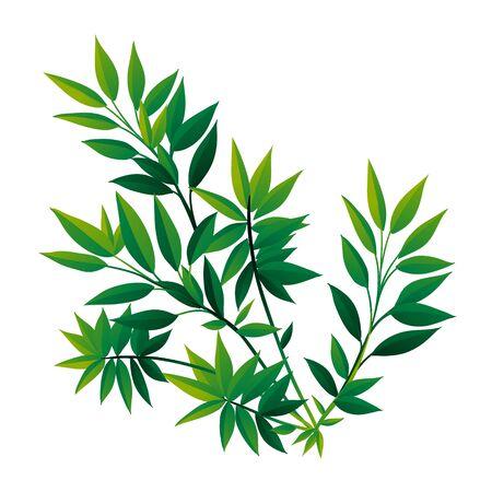 Tropical Leaf Icon isolated on White Backround Illustration