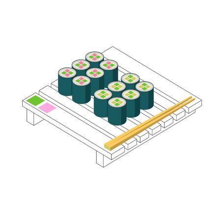 Sushi Set Minimalystic Style Pure Form Design