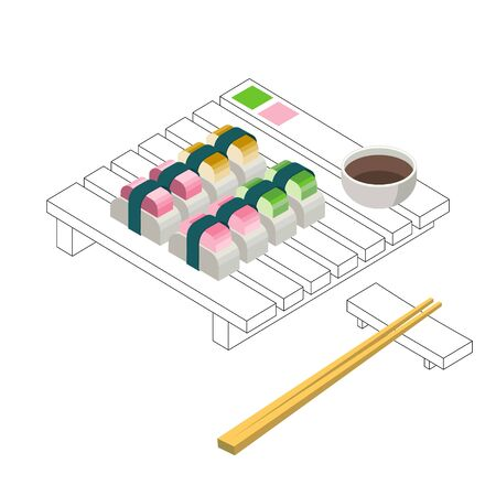 Sushi Set Minimalystic Style Pure Form Design