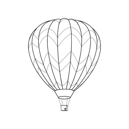 Air Balloon Simple Icon isolated on White