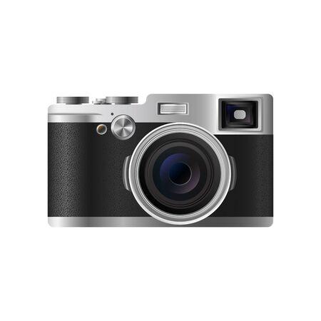 Retro Reflex Camera isolated on White Backgroun