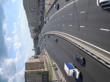 clear day: Urban highway on a clear day