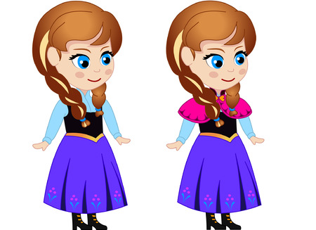 Принцесса Анна (векторный характер для анимации)