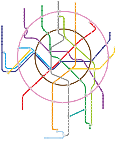 Metro map of Moscow Illustration