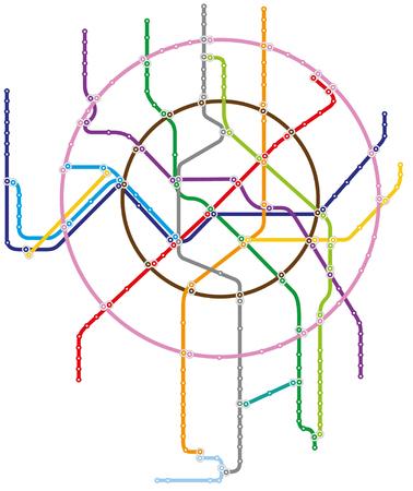 Metro map of Moscow Stock Illustratie