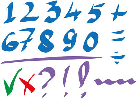 The numbers written by the marker Иллюстрация