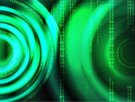 Abstract binary code vector background.