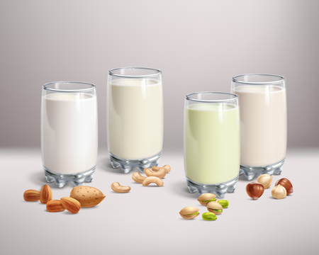 Vegan nut-milk in glass
