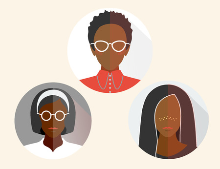 group womans business african flat material design icon