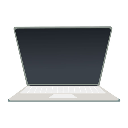 Lap top computer isolated over white background illustration Illustration