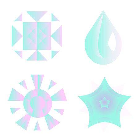 Climate icons set with rain, crescent, clouds, sunshine and other wet elements. Isolated vector illustration climate icons. 向量圖像