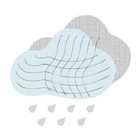 Climate icons with rain and cloud. Isolated vector illustration climate icons. Ilustração