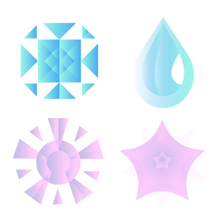 Climate icons set with rain, crescent, clouds, sunshine and other wet elements. Isolated vector illustration climate icons. Ilustração