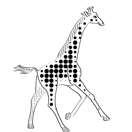 Giraffe vector icon on white background. icon in modern design style. vector popular and simple flat symbol for web and graphic art