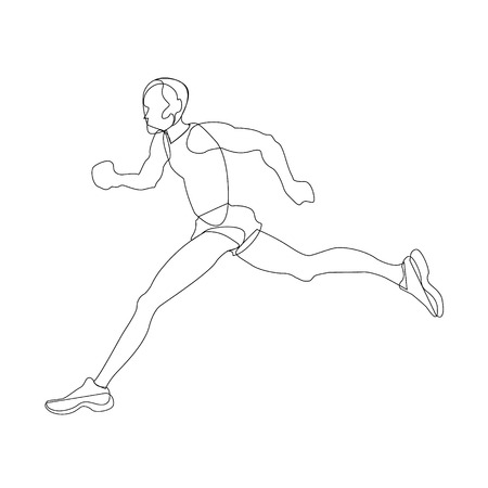 Men runner. sportsmen and healthy life style propaganda. motivation Illustration