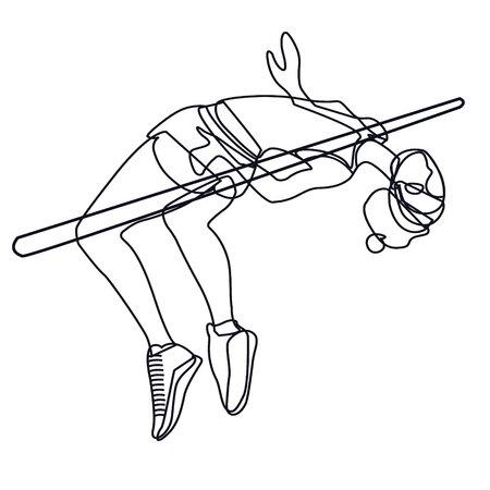 woman hight jumper. sportsmen and healthy life style propaganda. motivation
