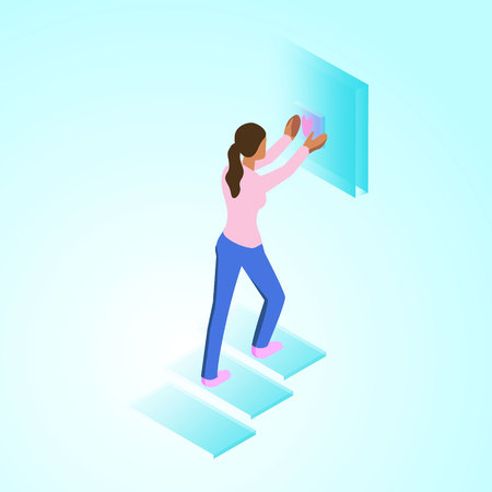 isometric 3d illustration desidner for ux ui web page or APP Illustration