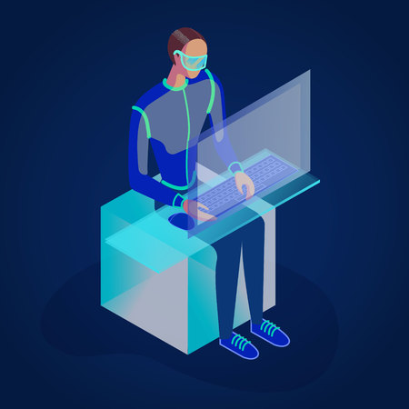 isometric 3d illustration for ux ui web page or APP