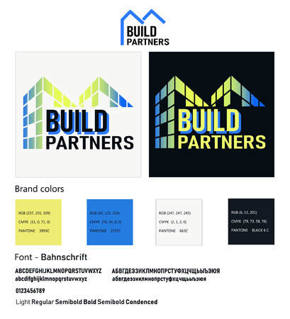 Real Estate vector logo design template color set