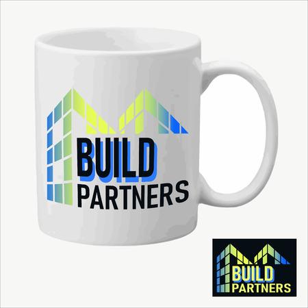 Real Estate vector logo design template color set on the cap