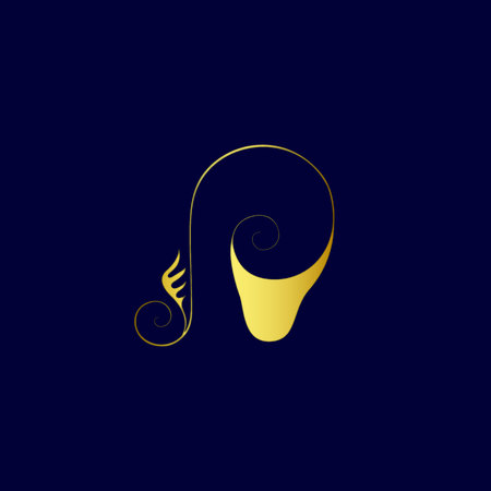 Shell and ear - music or sound vector logo concept illustration