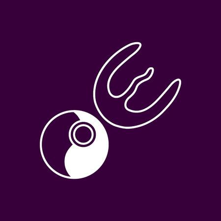 Tucan and pecan - vector logo concept illustration