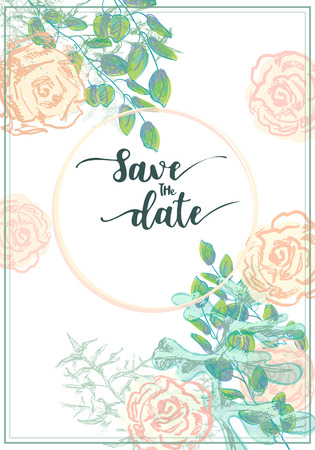 Hand drawn frame with a fresh springtime color scheme. Graphics are grouped and in several layers for easy editing. The file can be scaled to any size.