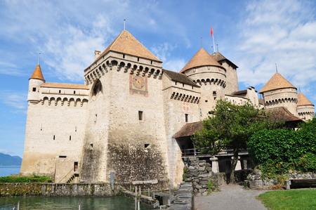 montreux: Front view of Chillon Castle