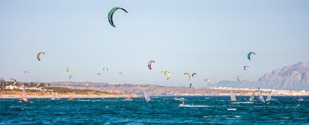 Kitesurfers in Tarifa, Cadiz