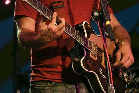 ギター奏者 写真素材