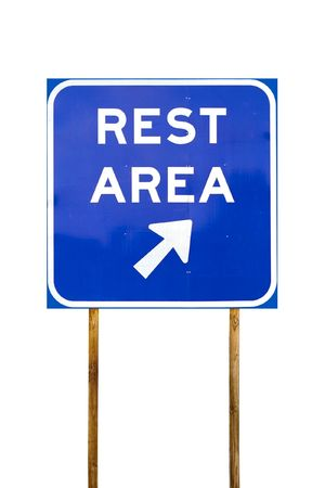 Rest Area sign with arrow Imagens