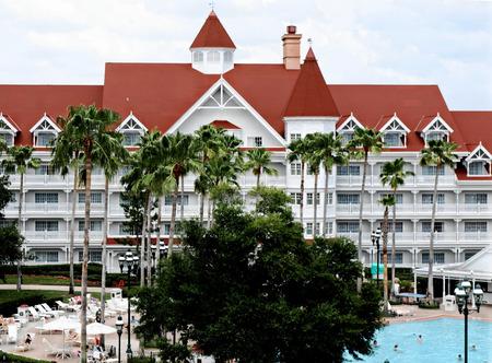 hotel exterior: Walt Disney Worlds Grand Floridan Hotel Exterior Editorial