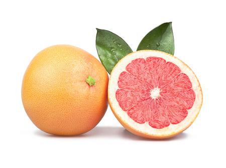kwaśne deszcze: Grapefruit na białym tle Zdjęcie Seryjne