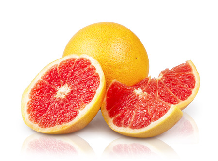 Grapefruits isolated on the white background Stock Photo
