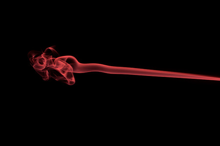 Red smoke from the burned matchstick