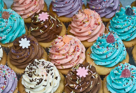 cup cakes: cupcakes Stock Photo