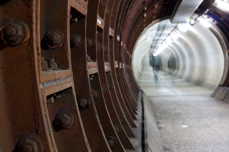 greenwich: greenwich foot tunnel, london.  Stock Photo