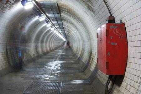 greenwich foot tunnel, london. photo