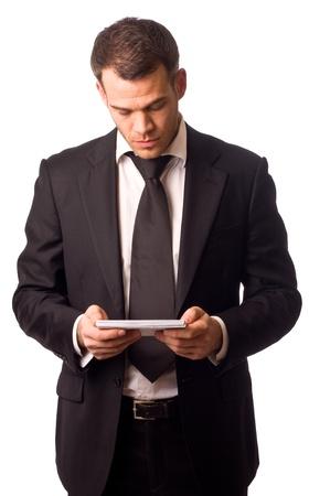 business man reading post. Stock Photo - 11916324