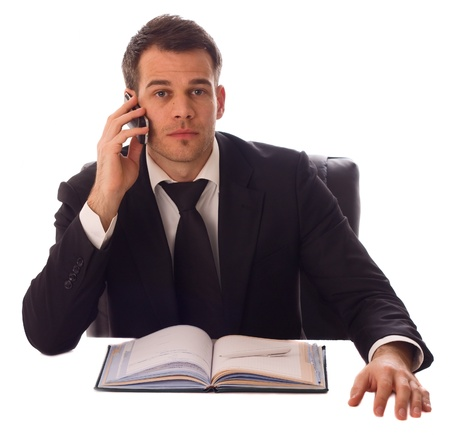 a young business man on the phone. Stock Photo - 11916162