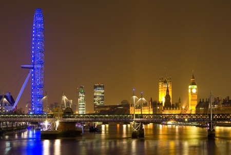 London cityscape at night