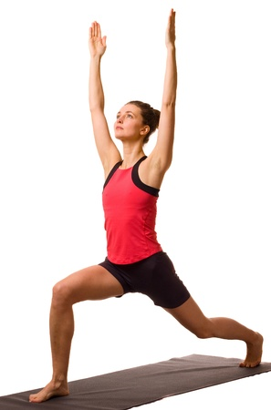 young woman exercising isolated on a white background Stock Photo - 13074893