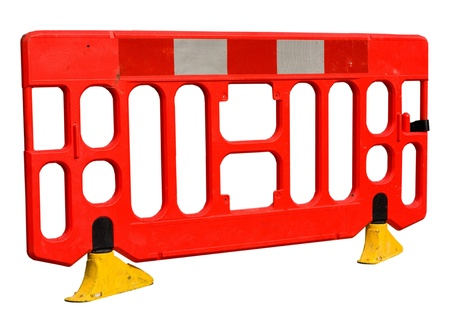 road works barrier. photo