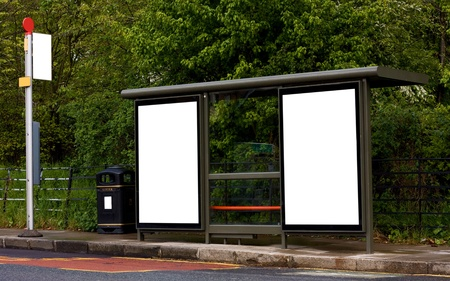 bus stop with blank boards Stock Photo - 13249707