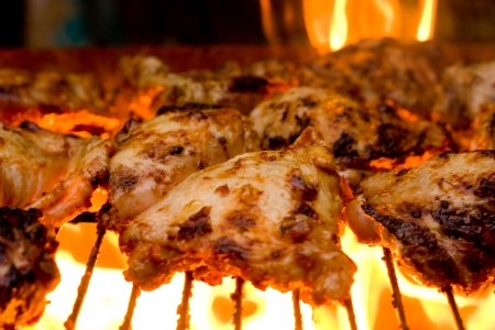 barbecue: barbecued chicken