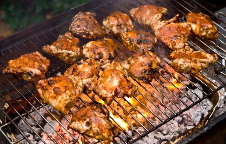 barbecued: barbecued chicken