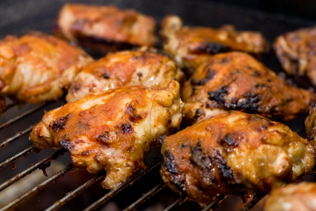 grill chicken: barbacued chicken Stock Photo